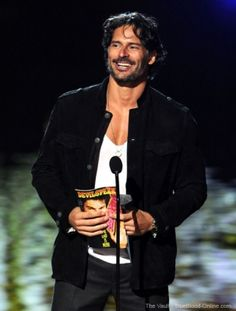 Joe wins a Scream Award. He can make me scream any day. Joe Maganiello, Joe Manganiello True Blood, I Scream, Celebs, Celebrities, Celebrity Crush, Black Men, Beautiful Men, Sexy Men