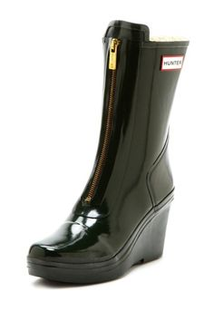 These rain boots are beauties. Hunter Miles Short Zip Wedge Boot on HauteLook