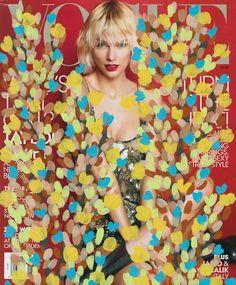 Michael De Feo's painted Vogue covers.