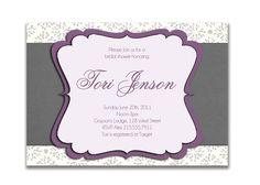 plum and grey weddings