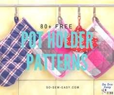 All the free sewing patterns from So Sew Easy plus links to thousands of other free sewing patterns and sewing projects from all around the internet. Diy Sewing Projects, Sewing Projects For Beginners, Sewing Hacks, Sewing Tutorials, Sewing Crafts, Sewing Ideas, Sewing Tips, Mug Rug Patterns, Potholder Patterns