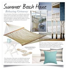 """""""Summer Home 1663"""" by boxthoughts ❤ liked on Polyvore featuring interior, interiors, interior design, home, home decor, interior decorating, Softline Home Fashions, Squarefeathers, CB2 and Pawleys Island"""
