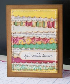 Love this layered card by Britta, going to have to try this, would be great with paper scraps