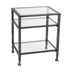 Harper Blvd Bunch Metal Glass End Table   10389028   Overstock.com Shopping    Great