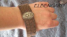 Echtes Leder Echse/Krokodil Prägung Armband MIDGARD von Elbengard