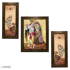 Paintings & Posters Stylish Wall Paintings (Set Of 3) Material: Wood and Plastic Dimension(LxW): Frame 1 - 12.5 in X 5.2 in Frame 2 - 12.5 in X 9.5 in Frame 3 - 12.5 in X 5.2 in Description: It Has 3 Pieces Of Frames With Paintings (Glass Is Not Included) Work: Printed Country of Origin: India Sizes Available: Free Size   Catalog Rating: ★4.1 (4313)  Catalog Name: Spiritual Wall Paintings Vol 10 CatalogID_49658 C127-SC1611 Code: 962-455509-405