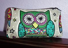 Darling Owl Makeup Bag by CrescentCityCouture on Etsy
