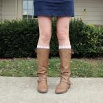 easy, affordable lace boot socks . how to-sday - Shrimp Salad Circus