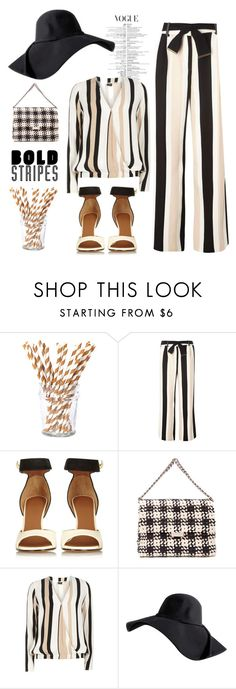 """""""bold beige stripes"""" by nineseventyseven ❤ liked on Polyvore featuring Beve, Dorothy Perkins, Givenchy and STELLA McCARTNEY"""
