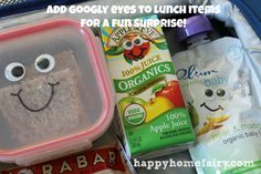 CUTE! Lunch box ideas at happyhomefairy.com