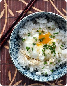 Onsen tamago over rice Bento Recipes, Veg Recipes, Asian Recipes, Ethnic Recipes, Japanese Dishes, Japanese Food, Egg Rice Recipe, Onsen Tamago, Yummy Asian Food