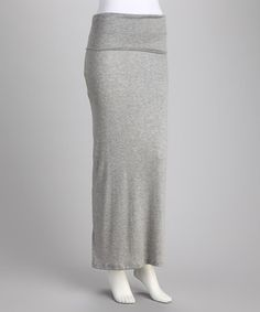 Take a look at this Heather Gray Maxi Skirt - Women & Plus by 24/7 on #zulily today!
