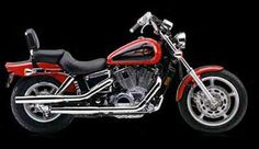 2000 Honda Shadow VT1100C, but ours is Black!  Love riding with him and looking for adventures