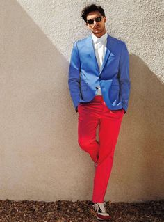 Color blocking for men at Simons