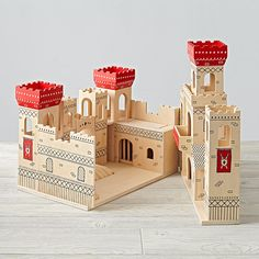 Shop Kids Dollhouse: Play Castle. Hear ye, hear ye, this toy castle set doth contain everything that a small kingdom needs, including a dungeon, working drawbridge, trap door and towers.