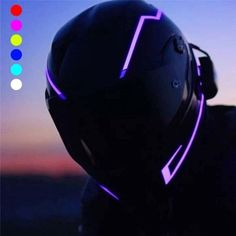 Motorcycle Helmet Design, Full Face Motorcycle Helmets, Motorcycle Style, Motorcycle Gear, Motorcycle Accessories, Women Motorcycle, Futuristic Motorcycle, Helmet Light, Led Stripes
