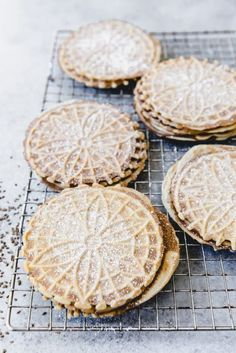 This Authentic Italian Pizzelle Recipe for the classic Italian cookie includes anise extract and anise seeds for a truly traditional pizzelle flavor with a crunchy texture. Anise + other flavours Authentic Italian Pizzelle Recipe, Authentic Italian Desserts, Italian Cookie Recipes, Italian Cookies, Dutch Recipes, Pizzelle Cookies, Italian Christmas Cookies, Christmas Baking, Recipes
