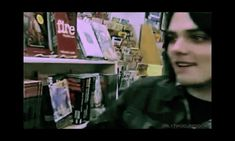 Frank looks like that friend who doesn't want to be video taped by their best friend who doesn't give a crap (gerard)