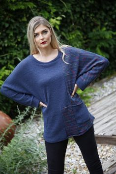 Blue wool top