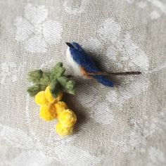 ルリビタキ×ミモザ - 千種 chigusa