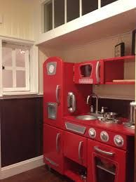Traditional Kids Playroom Design, Pictures, Remodel, Decor and Ideas - page 4 Under Stairs Playhouse, Room Under Stairs, Indoor Playhouse, Build A Playhouse, Playhouse Ideas, Playhouse Decor, Kitchen Set Up, Red Kitchen, Kitchen Ideas
