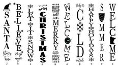 Reversible Winter Sign Welcome Sign Reversible Holiday Sign Reversible Christmas Sign Let it Snow Porch Sign Front Door Sign Christmas Is Over, Christmas Svg, Christmas Decorations, Christmas Stencils, Xmas, Christmas Design, Holiday Decorating, Christmas 2019, Christmas Ideas