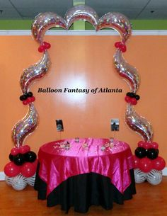 Diva Arches are Unique Balloon Arches Created with Decorator Foil Balloons