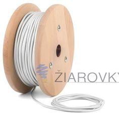 Kábel dvojžilový v podobe textilnej šnúry v bielej farbe (2)