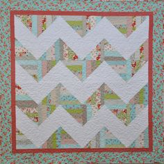 Ruby Chevron Quilt by sewsweetquiltco on Etsy, $210.00