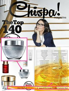 ANEW Clinical Overnight Hydration Mask was featured as a winner in the 2015 @ChispaMagazine Beauty Awards!