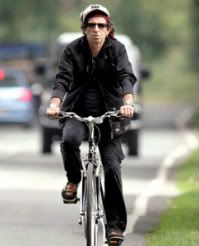 Keith Richards on a bike in Toronto
