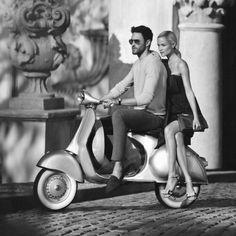 Carolyn Murphy for Carlo Pazolini SS Scooter Motos Vespa, Vespa Scooters, Vespa Motorcycle, Piaggio Vespa, Moped Scooter, Vintage Vespa, Vintage Bikes, Vespa Girl, Scooter Girl