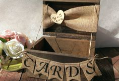 Burlap Wedding Theme | rustic wedding card box burlap wedding reception card box. $69.00, via ...