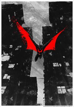 """xombiedirge: """"Batman Beyond by Mark Chilcott / Tumblr 13"""" X 19"""" giclee print, numbered edition of 75. Available 12pm EST Thursday, April 13th, 2017, from the Bottleneck Gallery, HERE. """""""