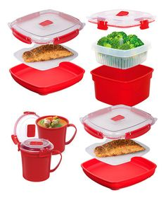 Love this Microwave Container Set by Sistema on #zulily! #zulilyfinds