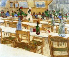 Interior of a Restaurant 1887 Vincent van Gogh (1853-1890)