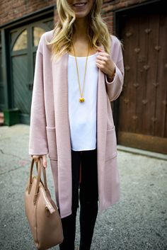 Pink Cardigan Coat via @katiesbliss