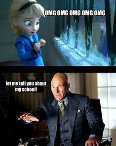 X-Men meets Frozen -- THIS. IS. AWESOME.  And would have helped, SO MUCH.