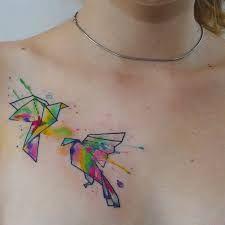 Afbeeldingsresultaat voor origami bird tattoo