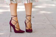 Pumps de color burdeos Burgundy Lace-up modelo THYLIA de ALDO