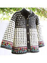 Baby & Kids Crochet Clothing - Fair Isle Cardigan for Kids Crochet Pattern Download from Annie's Craft Store. Order here: https://www.anniescatalog.com/detail.html?prod_id=126797&cat_id=929