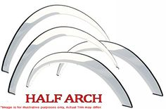 Name - Sharp 2in Stainless Chrome Fender Trim Kit 03-11 Lincoln Town Car 4dr - 1/2 Arch Fits Following Vehicles...
