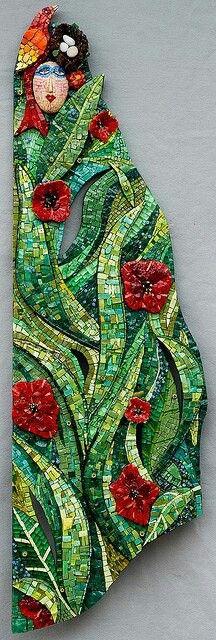 Woman in poppys