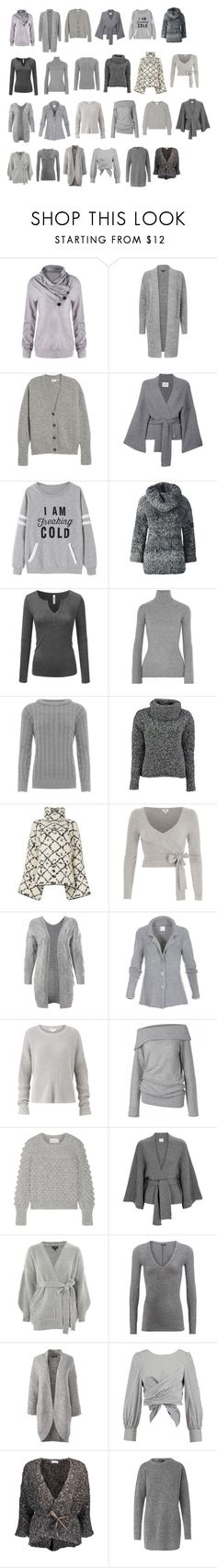 """""""casualclothing 1 gray"""" by imagekollection on Polyvore featuring AG Adriano Goldschmied, Le Kasha, Lands' End, Autumn Cashmere, WearAll, Lowie, Ports 1961, River Island, Sans Souci and Amanda Wakeley"""