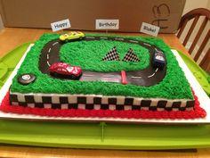 Car Race Track Birthday Cake Mike