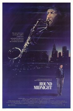 "MP293. ""Round Midnight"" Movie Poster by Steven Chorney (Bertrand Tavernier 1986) / #Movieposter"