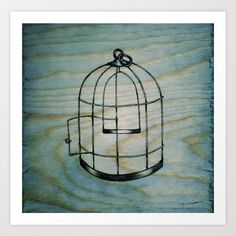 Bird Cage Art Print by BrittanyElyse - $18.00