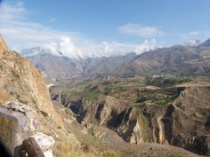 Stunning view of the Colca Canyon - view of the Mismi -