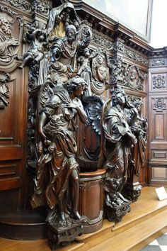 super Ideas for wood architecture sculpture design Wood Architecture, Amazing Architecture, Architecture Details, Victorian Interiors, Victorian Homes, Victorian Furniture, Antique Furniture, Gothic Interior, Wood Carving Art