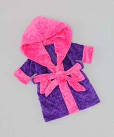Take a look at this Purple & Pink Doll Robe by FAT RAT on #zulily today!